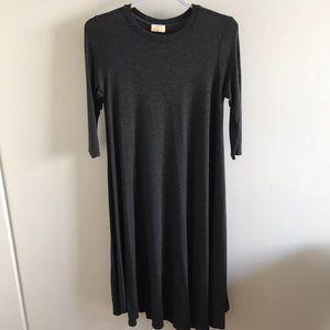 Charcoal Grey Swing Dress